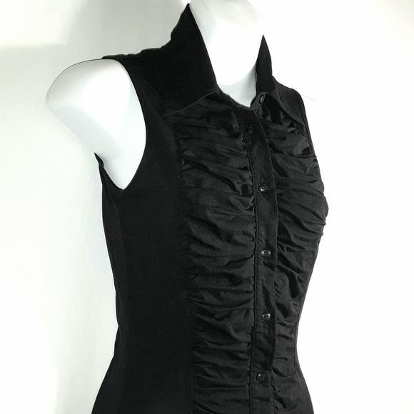 NYK Tops - NYK Shortsleeve Button Down Tank Shirt Bodice like